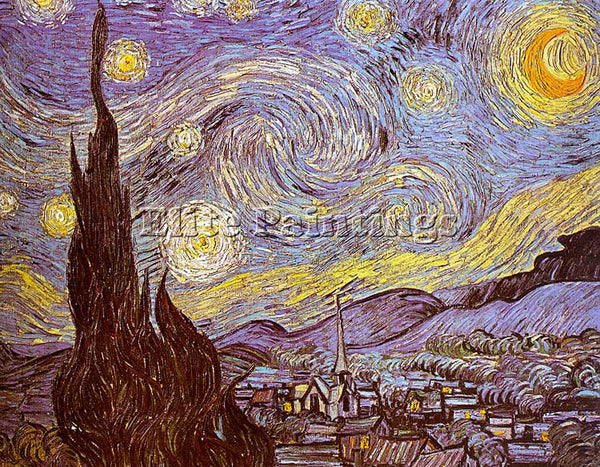 VINCENT VAN GOGH THE STARRY NIGHT ARTIST PAINTING REPRODUCTION HANDMADE OIL DECO