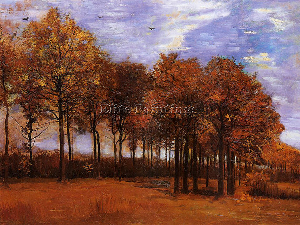 VINCENT VAN GOGH AUTUMN LANDSCAPE ARTIST PAINTING REPRODUCTION HANDMADE OIL DECO