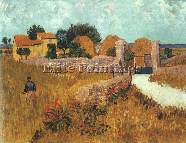 VINCENT VAN GOGH FARMHOUSE IN PROVENCE 1888 ARTIST PAINTING HANDMADE OIL CANVAS