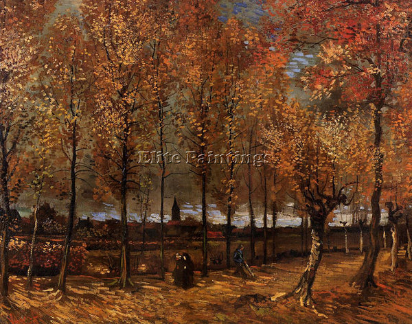 VINCENT VAN GOGH LANE WITH POPLARS ARTIST PAINTING REPRODUCTION HANDMADE OIL ART