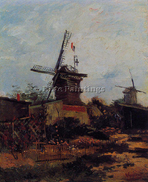 VINCENT VAN GOGH LE MOULIN DE BLUTE FIN ARTIST PAINTING REPRODUCTION HANDMADE
