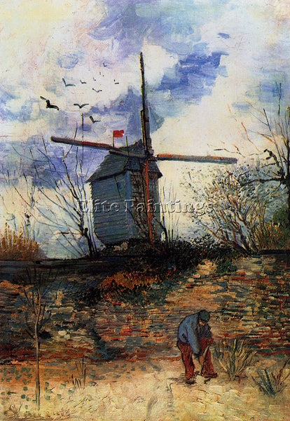 VINCENT VAN GOGH LE MOULIN DE LA GALETTE2 ARTIST PAINTING REPRODUCTION HANDMADE