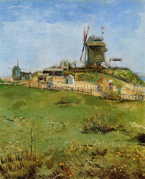 VINCENT VAN GOGH LE MOULIN DE LA GALLETTE3 ARTIST PAINTING REPRODUCTION HANDMADE