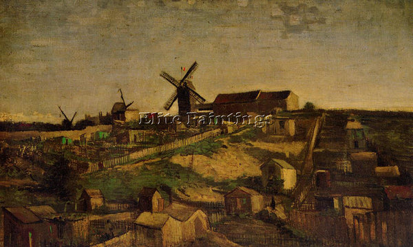 VINCENT VAN GOGH MONTMARTRE THE QUARRY AND WINDMILLS2 ARTIST PAINTING HANDMADE