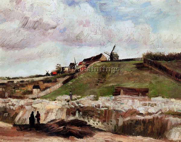 VINCENT VAN GOGH MONTMARTRE THE QUARRY AND WINDMILLS ARTIST PAINTING HANDMADE