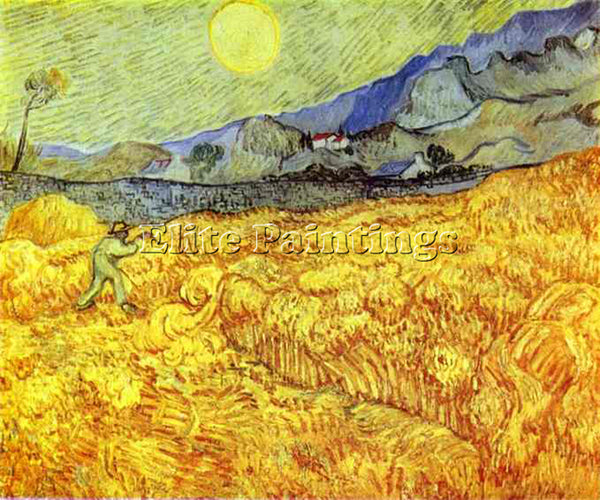 VINCENT VAN GOGH REAPER 1889 ARTIST PAINTING REPRODUCTION HANDMADE CANVAS REPRO
