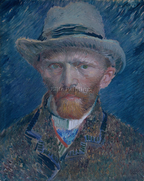 VINCENT VAN GOGH SELF PORTRAIT 1887 ARTIST PAINTING REPRODUCTION HANDMADE OIL