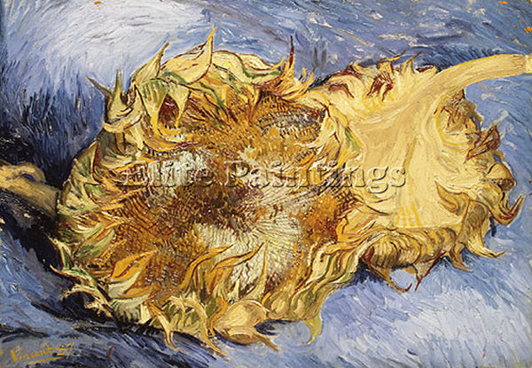 VINCENT VAN GOGH SUNFLOWERS 1887 ARTIST PAINTING REPRODUCTION HANDMADE OIL REPRO