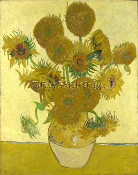 VINCENT VAN GOGH SUNFLOWERS 1888 ARTIST PAINTING REPRODUCTION HANDMADE OIL REPRO