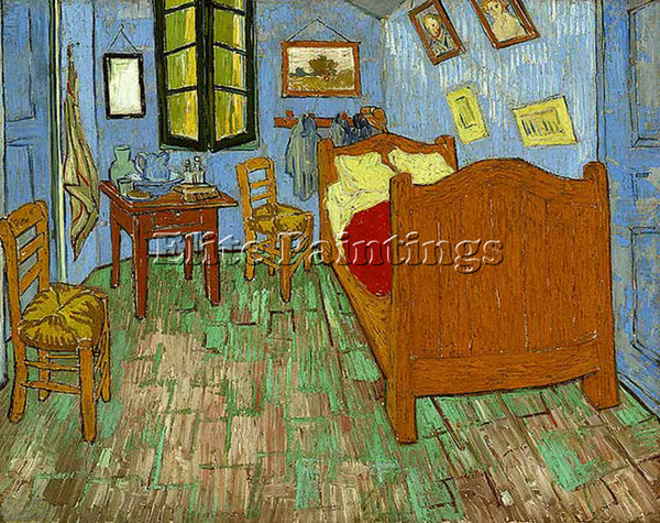 VINCENT VAN GOGH THE BEDROOM 1889 ARTIST PAINTING REPRODUCTION HANDMADE OIL DECO