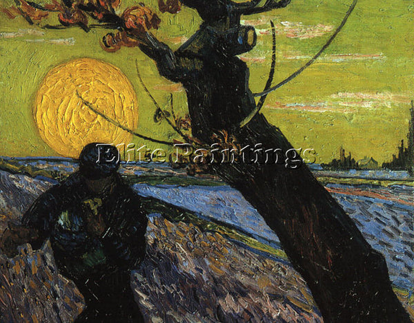 VINCENT VAN GOGH THE SOWER 1888 ARTIST PAINTING REPRODUCTION HANDMADE OIL CANVAS