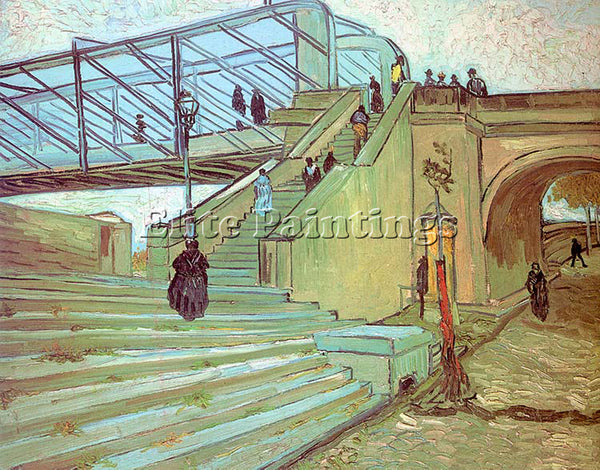VINCENT VAN GOGH THE TRINQUETAILLE BRIDGE 1888 ARTIST PAINTING REPRODUCTION OIL