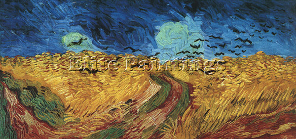 VINCENT VAN GOGH WHEATFIELD WITH CROWS ARTIST PAINTING REPRODUCTION HANDMADE OIL