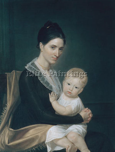 JOHN VANDERLYN MRS MARINUS WILLET AND HER SON MARINUS JR ARTIST PAINTING CANVAS