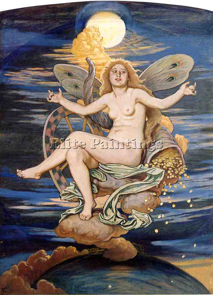 VEDDER ELIHU FORTUNA ARTIST PAINTING REPRODUCTION HANDMADE OIL CANVAS REPRO WALL