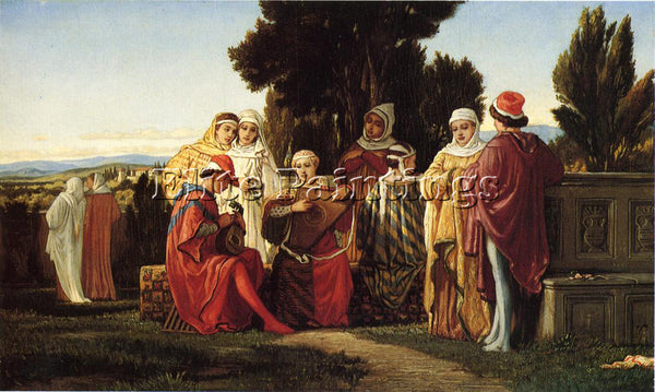 VEDDER ELIHU THE MUSIC PARTY ARTIST PAINTING REPRODUCTION HANDMADE CANVAS REPRO