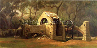 VEDDER ELIHU THE OLD WELL BORDIGHERA ARTIST PAINTING REPRODUCTION HANDMADE OIL