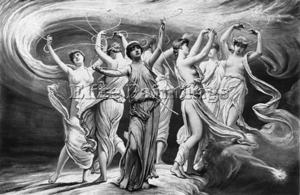 VEDDER ELIHU THE PLEIADES ARTIST PAINTING REPRODUCTION HANDMADE OIL CANVAS REPRO