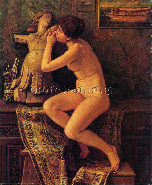 VEDDER ELIHU THE VENETIAN MODEL ARTIST PAINTING REPRODUCTION HANDMADE OIL CANVAS