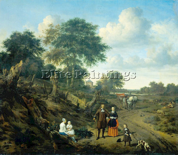 VELDE ADRIAEN VAN DE A 67FAMILY ARTIST PAINTING REPRODUCTION HANDMADE OIL CANVAS
