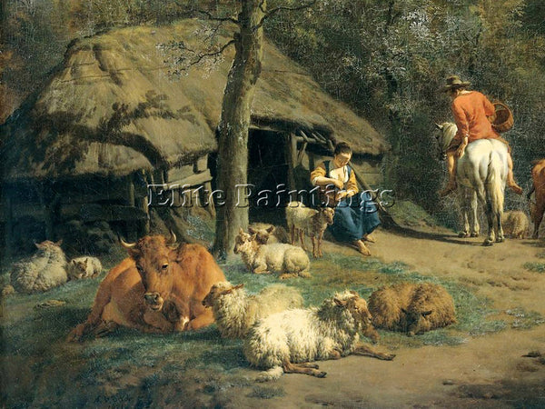 VELDE ADRIAEN VAN DE A 71HUTDET ARTIST PAINTING REPRODUCTION HANDMADE OIL CANVAS