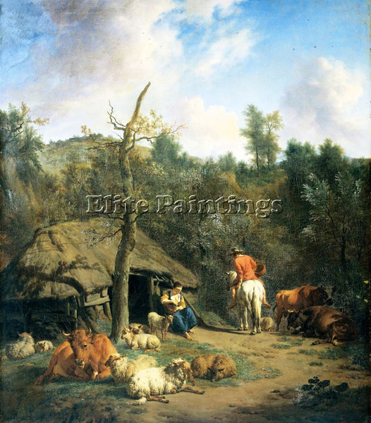 VELDE ADRIAEN VAN DE A 71HUT ARTIST PAINTING REPRODUCTION HANDMADE CANVAS REPRO