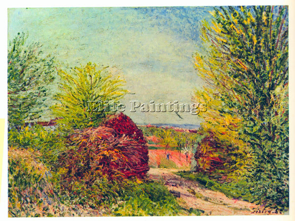 ALFRED SISLEY VENEUX NADON IN THE SPRING ARTIST PAINTING REPRODUCTION HANDMADE