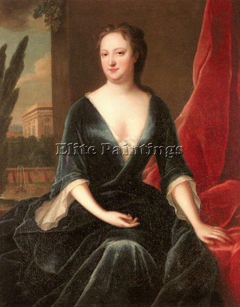 VERELST MARIA PORTRAIT OF A LADY ARTIST PAINTING REPRODUCTION HANDMADE OIL REPRO
