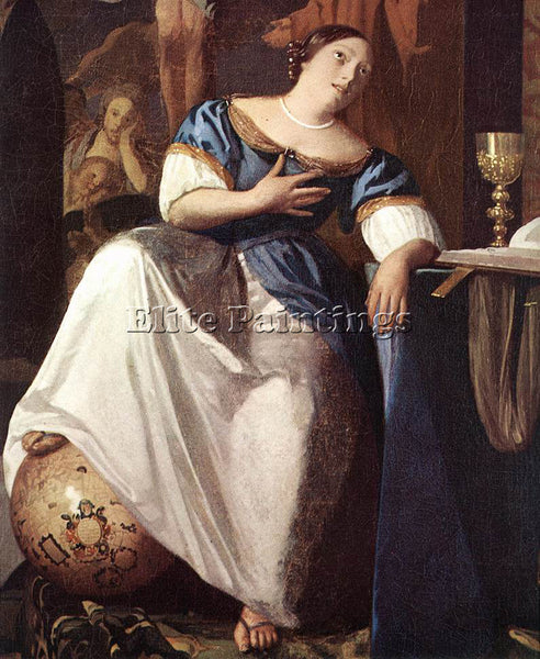 JOHANNES VERMEER THE ALLEGORY OF THE FAITH DETAIL1 ARTIST PAINTING REPRODUCTION