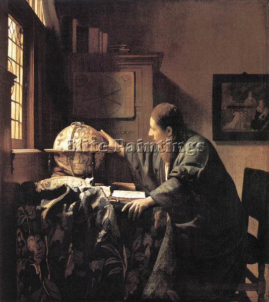 JOHANNES VERMEER ASTRONOMER ARTIST PAINTING REPRODUCTION HANDMADE OIL CANVAS ART