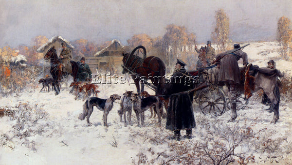 RUSSIAN VESIN JAROSLAV FR JULIUS TH ARTIST PAINTING REPRODUCTION HANDMADE OIL