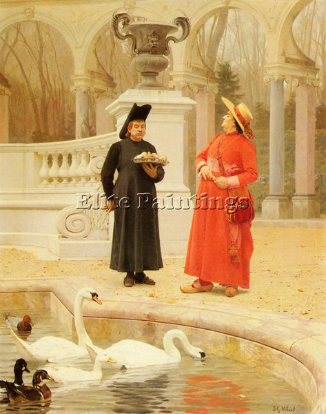 JEHAN GEORGES VIBERT A PLATE OF CAKES ARTIST PAINTING REPRODUCTION HANDMADE OIL