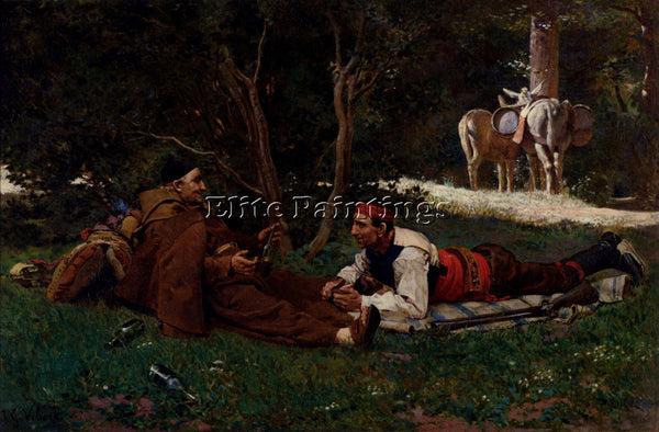 JEHAN GEORGES VIBERT AN AFTE ARTIST PAINTING REPRODUCTION HANDMADE CANVAS REPRO