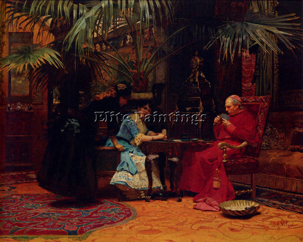 JEHAN GEORGES VIBERT THE CHU ARTIST PAINTING REPRODUCTION HANDMADE CANVAS REPRO