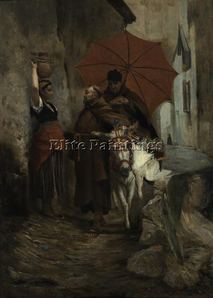 JEHAN GEORGES VIBERT THE DISTRACTION ARTIST PAINTING REPRODUCTION HANDMADE OIL