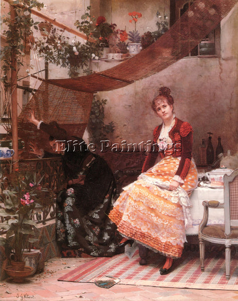 JEHAN GEORGES VIBERT VIENDRA T IL WHY COMES HE NOT ARTIST PAINTING REPRODUCTION