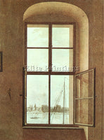 CASPAR DAVID FRIEDRICH VIEW FROM THE PAINTERS STUDIO ARTIST PAINTING HANDMADE