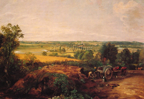 JOHN CONSTABLE VIEW OF DEDHAM ARTIST PAINTING REPRODUCTION HANDMADE CANVAS REPRO
