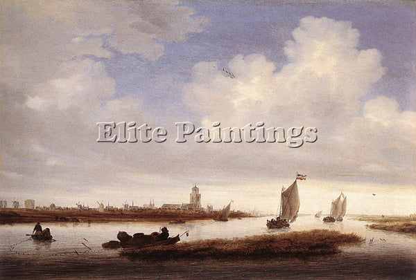 SALOMON VAN RUYSDAEL VIEW OF DEVENTER SEEN FROM THE NORTH WEST PAINTING HANDMADE