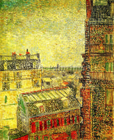 VAN GOGH VIEW OF PARIS FROM VINCENT S ROOM IN THE RUE LEPIC ARTIST PAINTING OIL