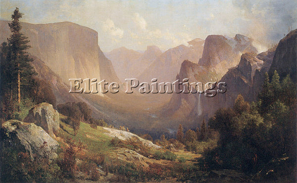 THOMAS HILL VIEW OF YOSEMITE VALLEY 1871 ARTIST PAINTING REPRODUCTION HANDMADE
