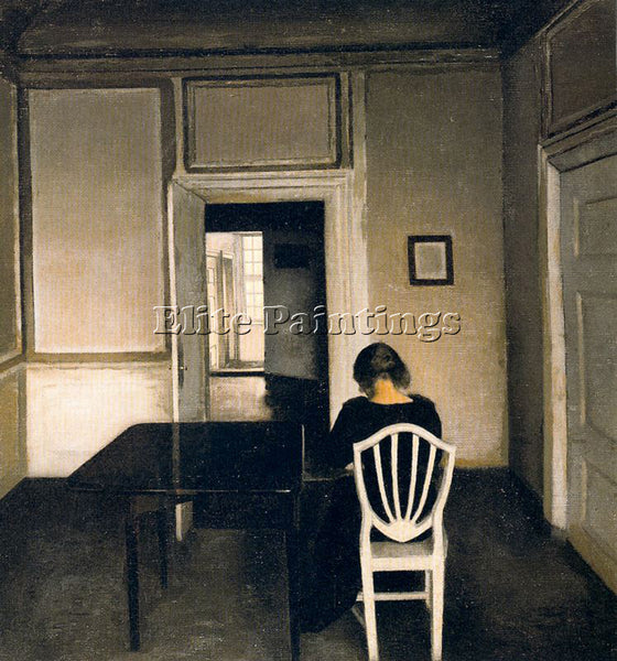 VILHELM HAMMERSHOI HAMM14 ARTIST PAINTING REPRODUCTION HANDMADE OIL CANVAS REPRO