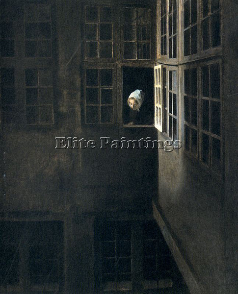 VILHELM HAMMERSHOI HAMM19 ARTIST PAINTING REPRODUCTION HANDMADE OIL CANVAS REPRO