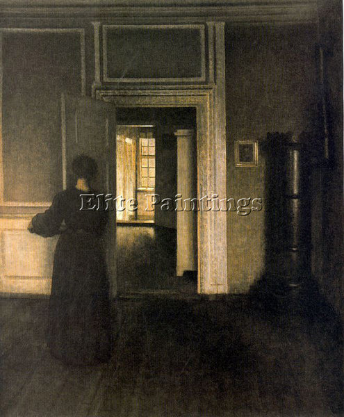 VILHELM HAMMERSHOI HAMM21 ARTIST PAINTING REPRODUCTION HANDMADE OIL CANVAS REPRO