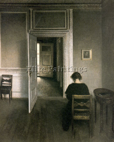 VILHELM HAMMERSHOI HAMM39 ARTIST PAINTING REPRODUCTION HANDMADE OIL CANVAS REPRO