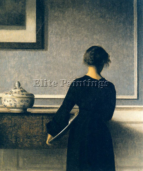 VILHELM HAMMERSHOI HAMM57 ARTIST PAINTING REPRODUCTION HANDMADE OIL CANVAS REPRO