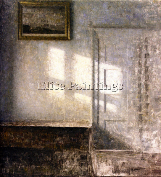 DENMARK VILHELM HAMMERSHOI INTERIOR STRANDGADE ARTIST PAINTING REPRODUCTION OIL