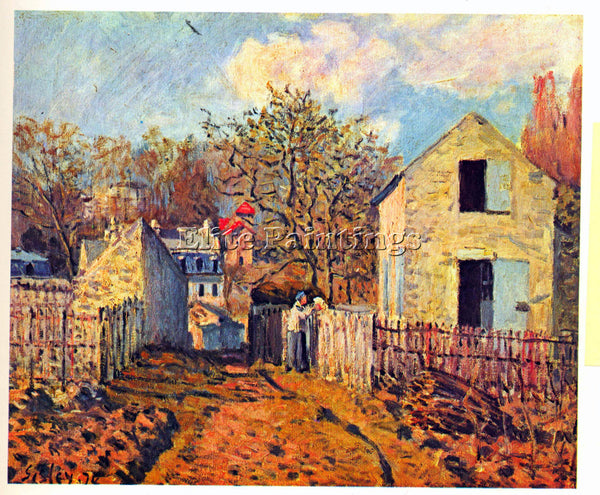 ALFRED SISLEY VILLAGE OF VOISINS NOW PART OF LOUVECIENNES  ARTIST PAINTING REPRO
