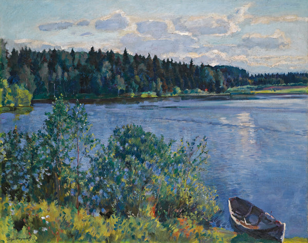 RUSSIAN VINOGRADOV SERGEI ARSENIEVICH LAKE ARTIST PAINTING REPRODUCTION HANDMADE