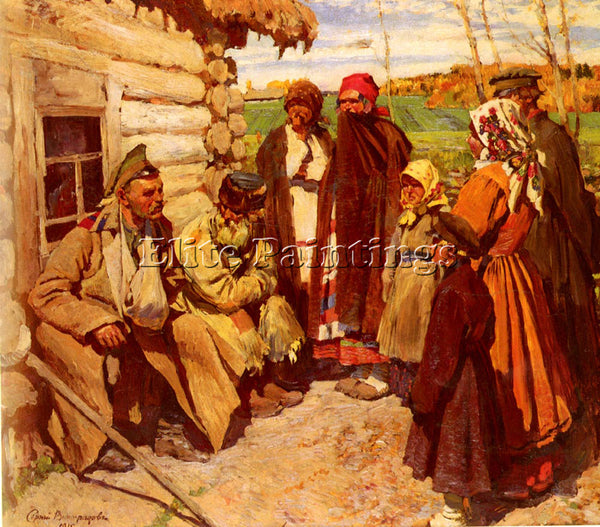 RUSSIAN VINOGRADOV SERGEI ARSENIEVICH TALES OF WAR ARTIST PAINTING REPRODUCTION